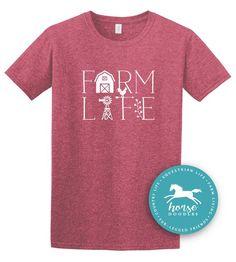 de4ffd0e8faa9 Farm Life Farm Girl Equestrian Farm Shirt Country Life