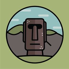 Landmark series 2 - Moai statues in Easter island. monochrome icon download here. https://thenounproject.com/mungang.kim/uploads/