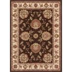 Timeless Abbasi Brown Beige 7 ft. 10 in. x 10 ft. 6 in. French Country Traditional Area Rug