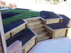 Most recent Free of Charge Retaining Walls stairs Style Should you have a garden in the Clarksville vicinity, itrrrs likely that you've thought it was difficult in or. Sloped Backyard, Sloped Garden, Retaining Wall Steps, Landscape Stairs, Timber Walls, Garden Stairs, Tiered Garden, Garden Design Plans, Traditional Landscape