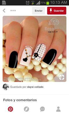 Fabulous Nails, Gorgeous Nails, Pretty Nails, May Nails, Hair And Nails, Luminous Nails, Watermelon Nails, Black Acrylic Nails, Valentine Nail Art