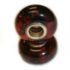 Cognac Baltic Amber Pandora style Bead Charm