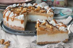 Cool cake nocciolita with peanut butter and cream toffee - Torta fredda nocciolita con burro d'arachidi e crema mou