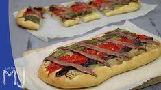 Coca de recapte con escalivada y anchoas / Spanish bread with roasted vegetables and anchovies