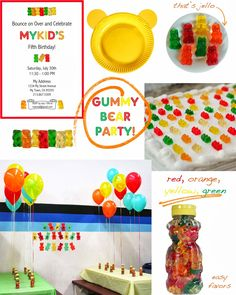 bliss bloom {blog} ~ a craft and lifestyle journal: Party // Gummy Bears! For Jonah, my gummy bear lover!
