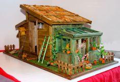 Maison DE Poupée Dollhouse Chalet Bois Cabane Maquette Modélisme | eBay
