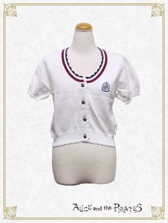 Alice and the Pirates Tricolour short sleeve cardigan