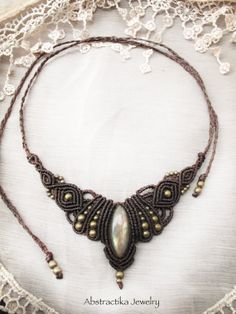 GoddessTiara necklace with labradorite by AbstractikaCrafts, £33.00