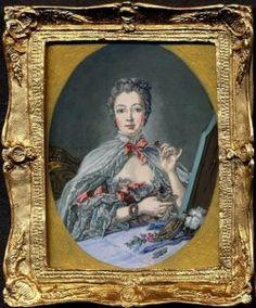 Madame de Pompadour 1758, after Boucher by Linda McBreen