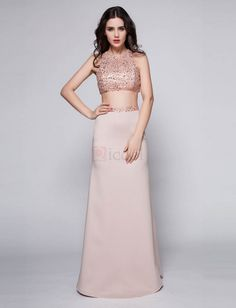 ❀ Two Pieces Sequined Floor-Length Evening Dress | Riccol ❤