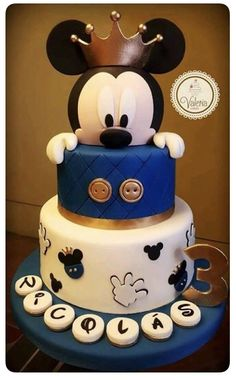 Cake birthday baby mickey mouse 52 ideas for can find Mickey cakes and more on our website.Cake birthday baby mickey mouse 52 ideas for 2019 Birthday Cake Kids Boys, Birthday Cake For Him, Baby Birthday Cakes, 1st Birthday Ideas For Boys, Baby Boy Birthday Themes, 30th Birthday, Birthday Parties, Bolo Do Mickey Mouse, Mickey Cakes