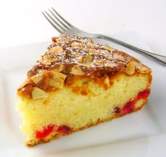 This is a seasonal favorite in my home -  Almond and Cherry Torte
