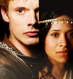Angel Coulby and Bradley James (II) - for queen and country.