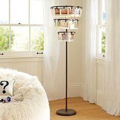 Pb teen glass spotlight floor lamp clear gold 169 liked on floor lamps teen floor lamps unique floor lamps pbteen aloadofball Images
