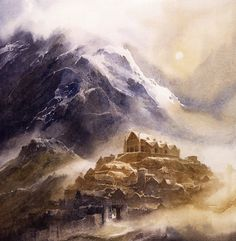 Edoras by Alan Lee