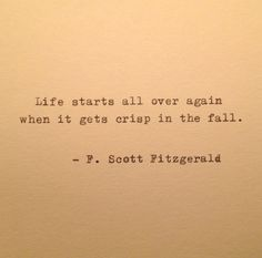 Autumn Fitzgerald Quote Typed on Typewriter / typewriter quote