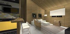 PROJETO 100 m2   SALA / COZINHA 3D 03
