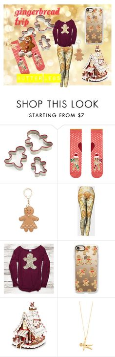 """""""Gingerbread Trip"""" by jp-bova ❤ liked on Polyvore featuring Crate and Barrel, Accessorize, Kate Spade, Casetify, Kurt Adler and Alex Monroe"""