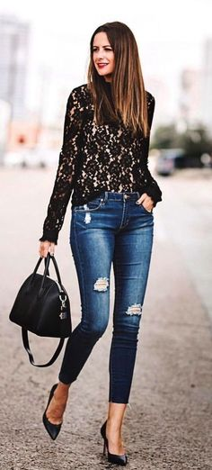 29 Ideas fashion outfits women casual distressed j 29 Ideas fashion outfits women casual distressed jeans Look Fashion, Autumn Fashion, Fashion Outfits, Womens Fashion, Fashion Trends, Fashion Black, Cheap Fashion, Fashion Ideas, Look Boho