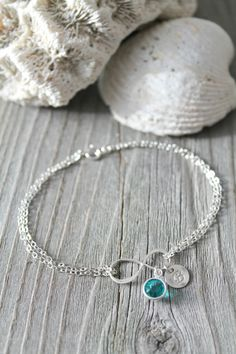 Sterling silver personalized Infinity bracelet by potionumber9