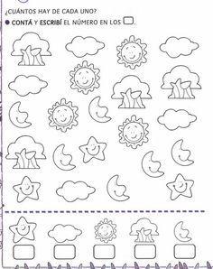 Risultati immagini per trabajar sumas con niños Counting Activities, Educational Activities, Toddler Activities, Preschool At Home, Kindergarten Math, Preschool Activities, Visual Perception Activities, Math Sheets, Kids Math Worksheets