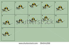 cartoon vector wasp animation fly. Game icon funny flying insect. Vector design for app user interface.