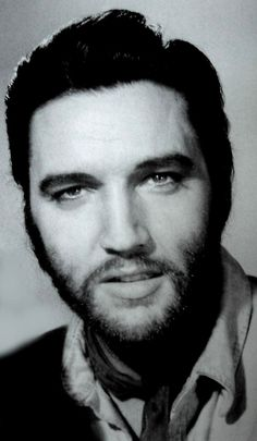 E. (a rare photo of Elvis with beard for the movie Charro 1969.