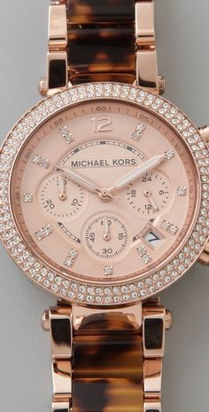 Rose gold with Tortoiseshell from @Michael Kors. christmas wish!
