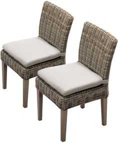 TKC TKC092b-ADC-C-BEIGE 2 Piece Cape Cod Armless Dining Chairs, Beige. Luxury Patio Furniture. Color : Beige. Designed to create luxurious outdoor living environment.
