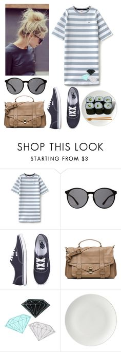"""""""Lunch time"""" by fhn96 ❤ liked on Polyvore featuring Lacoste L!VE, Linda Farrow, Vans, Proenza Schouler, Diamond Supply Co., Jura, men's fashion and menswear"""