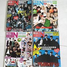 Kpop / Cpop / Mandopop Entertainment Magazines  Brand new! Condition 10/10 $3 each! All languages in MANDARIN~ BL小说 纯韩娱乐娱乐无限-  Kpop groups