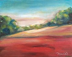 Red Hills 2 by MariaTepperPaintings on Etsy Art Pieces, Etsy Seller, Paintings, Handmade Gifts, Artwork, Red, Kid Craft Gifts, Work Of Art, Paint