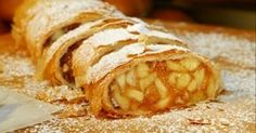 """The Strudel has a history older then me and Berghoff Restaurant. In German, the word strudel means """"whirpool"""" or """"vortex"""". Kai, Flaky Pastry, Cook At Home, Greek Recipes, Italian Recipes, Apple Recipes, Easy Recipes, International Recipes, Just Desserts"""