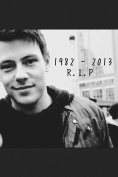 You're a part of me and I'll never be the same here without you. You were gone too soon @CoryMonteith  #Angel #RIP