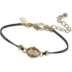 TOPSHOP November Birthstone Bracelet (82 SEK) ❤ liked on Polyvore featuring jewelry, bracelets, black jewelry, parachute cord bracelet, pandora jewelry, pandora bracelet and jade bangle