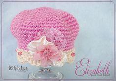 Newborn Photography.Elizabeth Pink Rose Beret. Crochet Newborn Hat   $30.00, via Etsy.