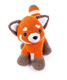 Zoomigurumi 6 - Rudy the red panda by Little Muggles - Amigurumipatterns.net