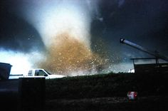 March 13, 1990 - A large F5 tornado photographed in Hesston, Kansas.