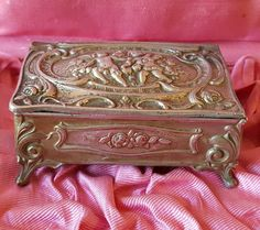 Antique French Cherub Box Art Nouveau by PinyolBoiVintage on Etsy