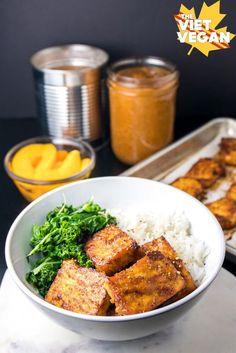 Peach BBQ Baked Tofu | The Viet Vegan