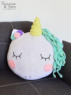 CROCHET PATTERN - Unicorn Pillow / Cushion | Beautiful Cases For Girls