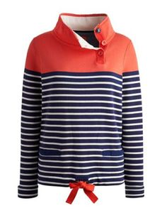 Joules null Womens Sweatshirt, New Melon Stripe.                     Pure comfort, simple style, basically beautiful. One of our best-loved sweatshirts returns in soft, brushback cotton to make sure staying warm and cosy is a breeze.