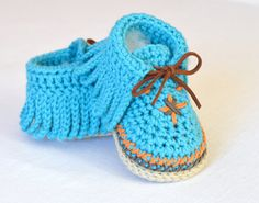 Baby Shoes CROCHET PATTERN Baby Moccasins 3 Sizes Photo