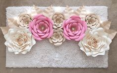 HERE SHE IS paper flower backdrop I just finished for my client @esti_wormser for her daughters wall decor can't wait to see them up #paperflowers #paperflower #handmade #madewithmichaels #diy #art #decor #chic #style