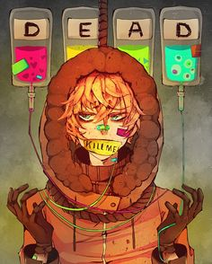 Read Gore from the story South Park picture book by DEead-Account- (Kyle Is Red-Head Bae) with reads. Art Manga, Manga Anime, Anime Art, Sad Anime, Psychedelic Art, Fanart, Otaku, Gavity Falls, South Park Anime