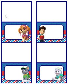 Hey, I found this really awesome Etsy listing at https://www.etsy.com/listing/238326408/paw-patrol-food-labels