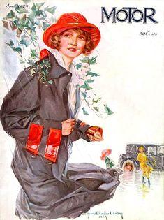 """Девушки и автомобили. Старинная реклама и журнал """"Motor magazine"""". - Интересное и забытое - быт и курьезы прошлых эпох."""