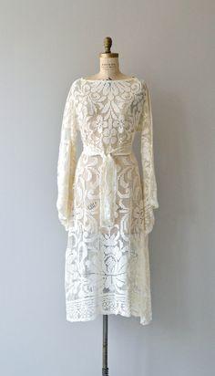 Old World dress vintage 1970s bohemian lace wedding by DearGolden