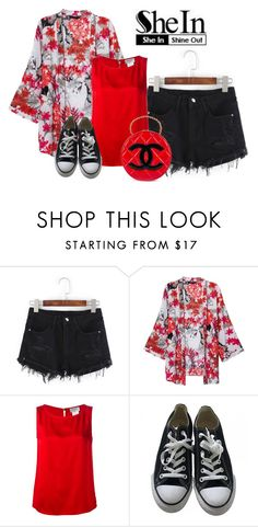 """Untitled #5177"" by stephaniefb ❤ liked on Polyvore featuring Chanel, Converse and vintage"