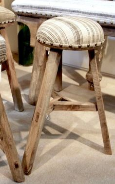 Love!! Soft for the bum. Stools